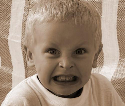 Маленький ребёнок злится