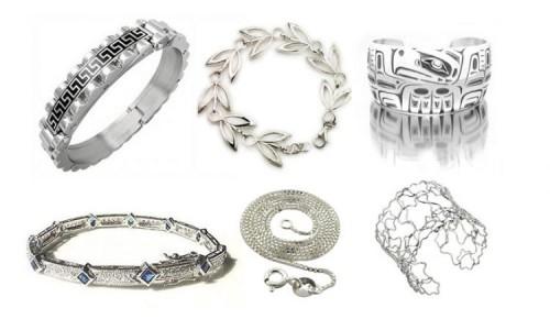 Серебряные украшения - цепочка, кольца, браслеты