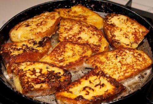 Гренки приготовленные на сковороде